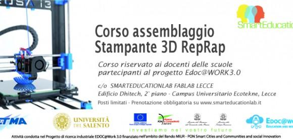 Al via i Corsi allo Smarteducationlab Fablab Lecce!
